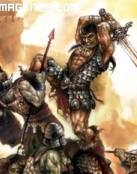 Conan lucha contra No-muertos