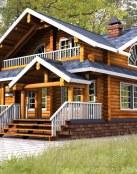 Elegante casa de madera