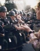 Imagen mitica del movimiento Hippy