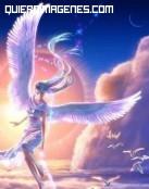 Un ángel sobre las nubes