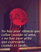 Callar cuando se ama