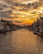 Puesta de sol en Holanda