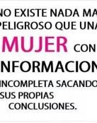 Mujer con información incompleta