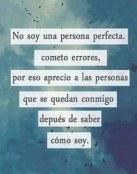 No soy una persona perfecta
