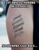 Tatuajes con los nombres de las exnovias