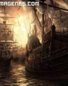 Barcos corsarios llegan en la ncohe