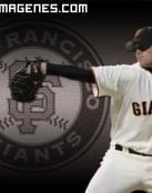 Beisbol, jugador y escudo de los Giants