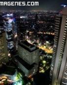 Rascacielos de Tokyo en la noche
