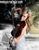 Bella violinista