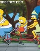 Los Simpsons en bicicleta