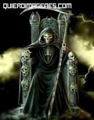 La parca en su trono