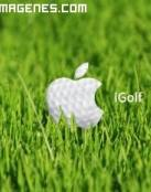 Logotipo de Apple en el golf
