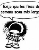 Las exigencias de Mafalda