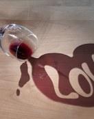 Mancha de vino muy romántica