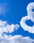 Nubes con forma de corazón