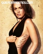 Tatuaje con mensaje de Megan Fox