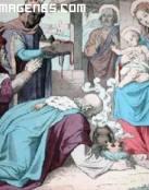 Adoración de los Reyes Magos al niño Jesús
