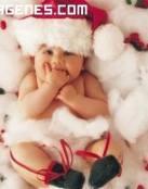 Imagen de bebe navideño