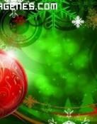 Imagen de la bola de un árbol navideño