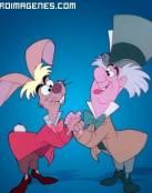Conejo y Hombre de Alicia Pais Maravillas
