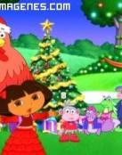 Dora exploradora en Navidad