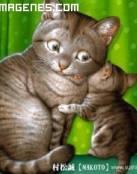 Gatos cuchicheando