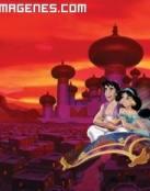 Aladin y Jasmien en la alfombra voladora