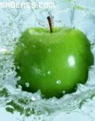 Imagen de una manzana verde