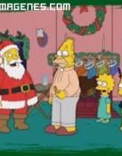 Santa Claus visita la casa de Los Simpsons