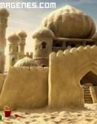 Un castillo de arena