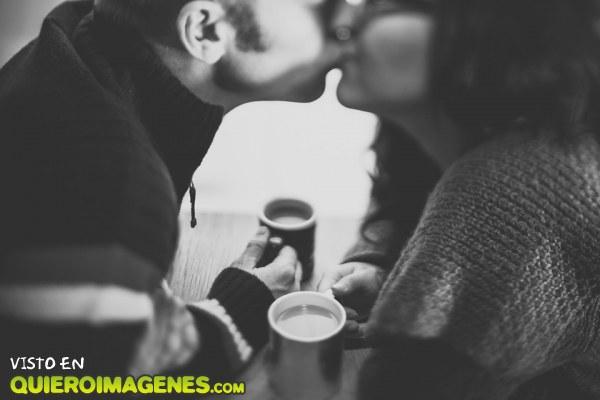 Un beso con sabor café